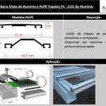 Perfil de aluminio trapézio e barra chata - A Casa do Policarbonato