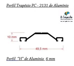 Perfil trapézio de aluminio - A Casa do Policarbonato