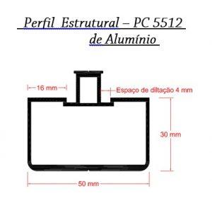 Perfil estrutural 5512 - Casa do Policarbonato