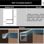 Perfil F de aluminio - A Casa do Policarbonato