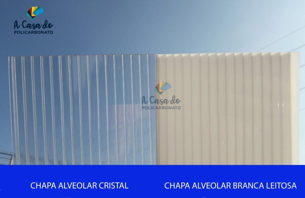 Chapa avlveolar cristal / Branca Leitosa - A Casa do Policcarbonato