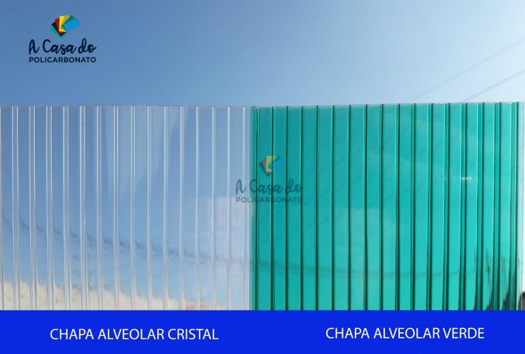 Chapa avelolar cristal / verde