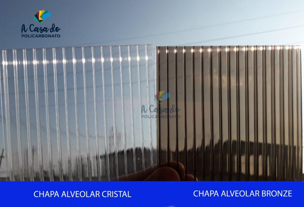 Chapa alveolar cristal / Bronze - A Casa do Policarbonato