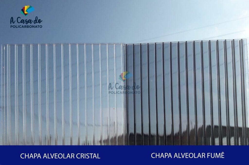 Chapa alveolar cristal / Fume - A Casa do Policarbonato