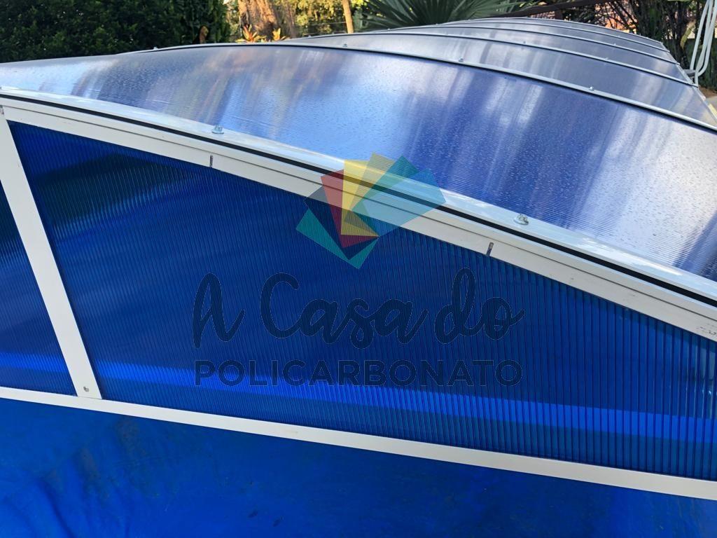 Cobertura piscina Azul - A Casa do Policarbonato