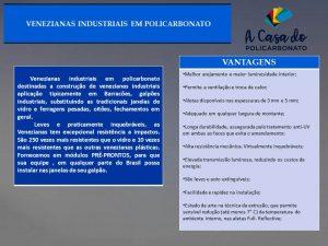 Vantagens venezianas - A Casa do Policarbonato