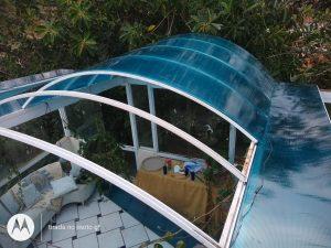Começo instalação Multi Painel Azul - A Casa do Policarbonato